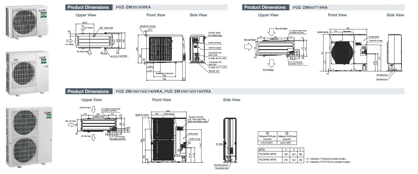 Mitsubishi Electric Air Conditioning PCA-M50KA Ceiling